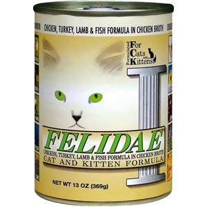 Felidae Canned 4 Meat Original Cat Food 12/13 oz Case felidae, Cat food, canned, 4 meat, original