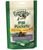 Pill Pockets - Duck/Pea Capsule Dogs 6.6 oz pill pockets, greenies, dog, dog treats, duck, pea, capsule