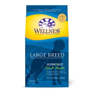 Wellness Super5mix Large Breed Adult Dog Food 30 lb wellness, supermix, super5mix, large adult, adult, large, dry, dog food, dog