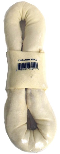 "Rawhide Tug 10"" Rawhide, tug, figure 8, dog, treats, dog treats"