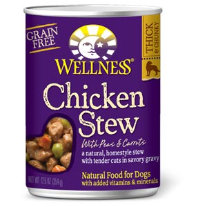 Wellness Chicken Stew Can Dog Food 12/12.5 oz Case wellness, chicken, stew, canned, dog food, dog