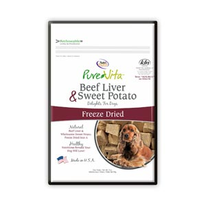 PureVita Freeze Dried Liver & Sweet Potato Dog Treats purevita, pure vita, freeze dried, liver and sweet potato, liver & sweet potato, dog treats