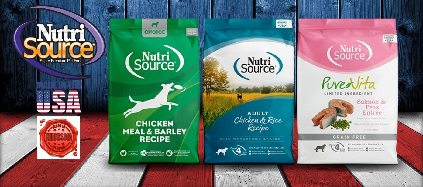NutriSource PureVita Choice DogFoodDirect.com Made in USA Made in Minnesota Dog Food Delivery