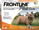 Frontline Plus Dogs 5-22 lbs