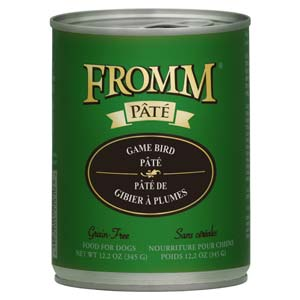Fromm Gold GF Game Bird Pate Canned Dog Food 12/12.2oz Case fromm, gold, gf, grain free, game bird, pate, canned, dog food, dog