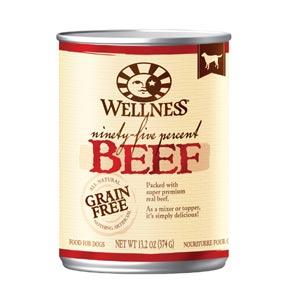 Wellness Wellness 95 Percent Beef Canned Dog Food 12 13